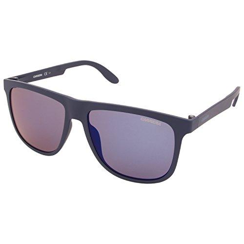 Carrera CA5003ST Rectangular Sunglasses, Blue & Blue Sky Mirror, 57 - Sunglasses Store Carrera