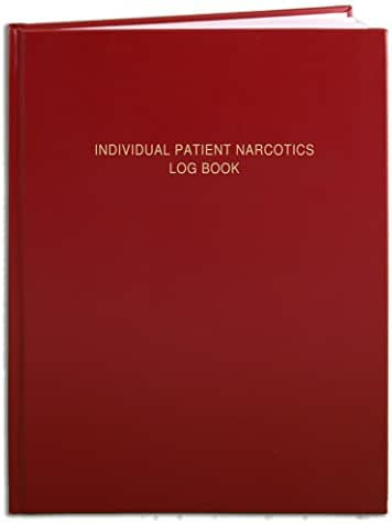 BookFactory Individual Patient Narcotics Log Book/Patient's Narcotic Record Logbook - 120 Pages - 8 1/2