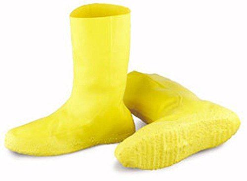 Haz-Mat Yellow Rubber Latex Disposable Nuke Boots (Over the Shoe) Size 2x ()