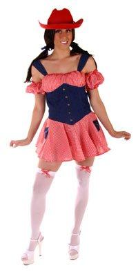 daisy duke denim cow girl fancy dress costume