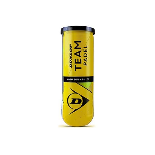 DUNLOP TB Team Padel - Palline per adulti, unisex, colore: giallo, 3 pezzi 1 spesavip