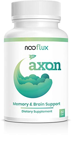 Brain Support Supplement - Enhance Memory, Brain Function, Boost Concentration - Nootropics w/Adaptogens & Plant Based Vitamins - Lions Mane Bacopa Monnieri Citicoline Ginkgo - Axon by Nooflux