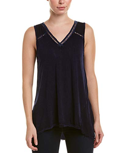 XCVI Women's Avery Tank Top Distressed Evening Wash Medium ()