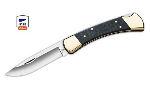 Buck Knives 110 Charcoal Drop Point 5160 Carbon Steel Folding Hunter Knife W/Sheath 110GYSSH1