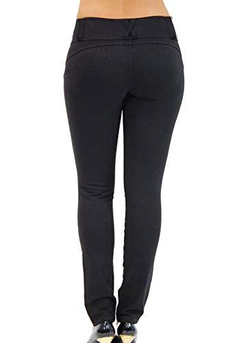 Pantalons en des Vosujotis Slim lev Denim Poche Le Black Jeans RqYwYPT