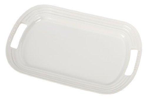 "Le Creuset Stoneware 12"" Oval Serving Platter, White"