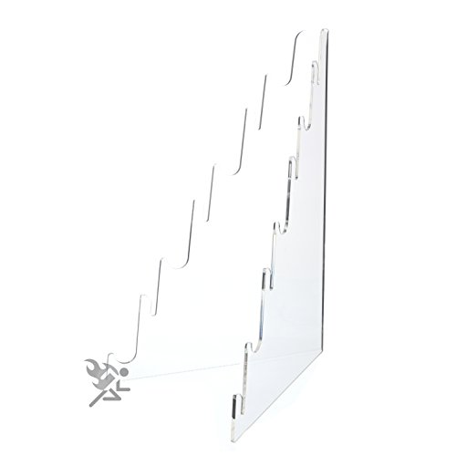 (1) Multi Tier Knife Holder Clear Plastic Display Stand Easel