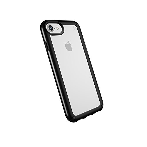 Speck Black Case - Speck Products Presidio Show Case for iPhone 8 (Also Fits 7/6S/6), Clear/Black