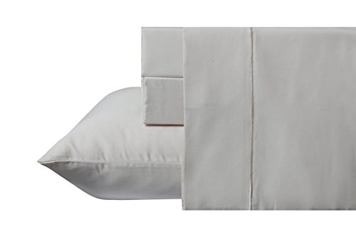 800 Thread Count 100% Long Staple Cotton Sheet Set, Queen Sheets, Luxury Bedding, Queen 4 Piece Set , Smooth Sateen Weave, Ivory, by Audley Home
