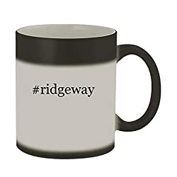 #ridgeway - 11oz Color Changing Hashtag Sturdy Ceramic Coffee Cup Mug, Matte Black