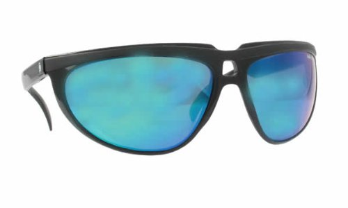 Bolle 421 Black with Blue Lens Designer - Bolle Sunglasses Vintage