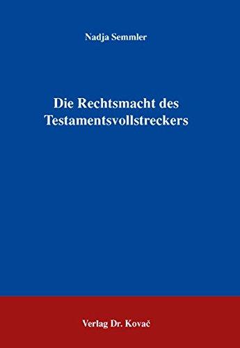 Download Die Rechtsmacht des Testamentsvollstreckers pdf epub