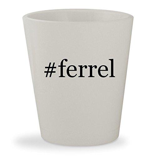 #ferrel - White Hashtag Ceramic 1.5oz Shot Glass