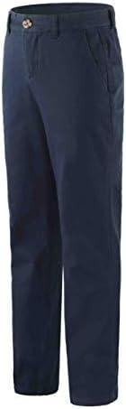 Bienzoe Boy's Cotton Stretchy Adjustable Waist School Uniforms P