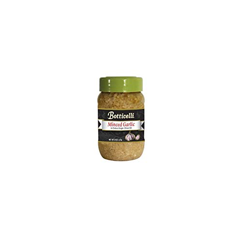 Botticelli Minced Garlic in Extra Virgin Olive Oil. Made with Garlic, Great for Sauces, Dressings and Sautéing. Imported from Italy (8oz)