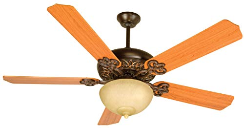 Indoor Ceiling Fans 2 Light Fixture with Oiled Bronze Gilded Finish Medium Bulb 22