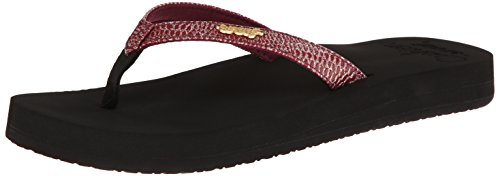 Reef Women's Star Cushion Sassy Sandal,Black/Berry,6 M US