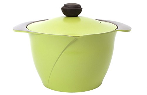 Cheftopf Larose Premium Pot, Specialty Nonstick Dishwasher Safe,Pot with Glass Lid Cookware, 26cm. Green by Cheftopf