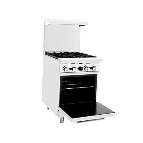 CookRite Commercial Natural Gas Range 24″ 4 Burner Hotplates With Standard Oven – 124,000 BTU
