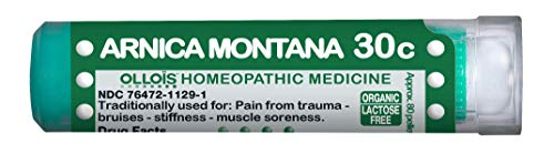 (Ollois Lactose-Free, Organic, Homeopathic Medicines, Arnica montana 30C Pellets, 80 Count)