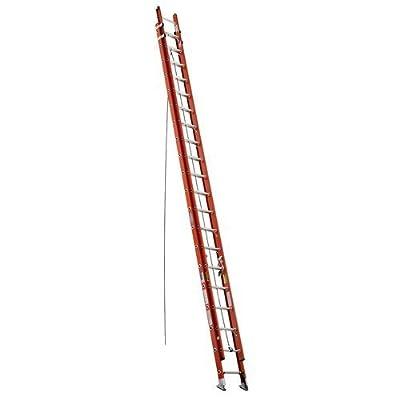 Werner D6240-2 300-Pound Duty Rating Fiberglass Flat D-Rung Extension Ladder, 40-Foot