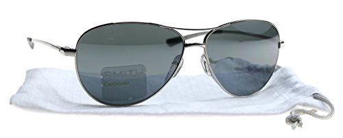 Smith Langley Sunglasses - Women's Silver/Blue Flash Mirror, One Size by Smith Optics