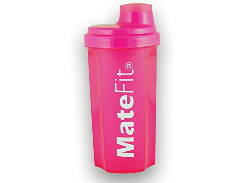 Shaker Bottle Pink – MateFit, with mesh lid to mix lumps and to stop ice cubes when drinking, 700 ml/24 Ounce with a track record of positive user reviews Review