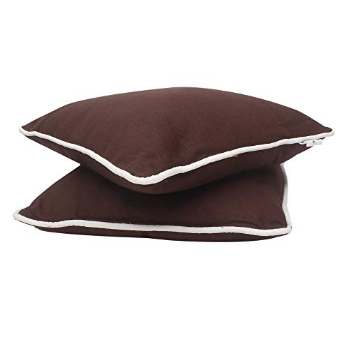 Best Review Of Bless International 16x16 Brown Throw Pillow Inserts (Set of 2)