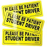 CARBATO Student Driver Magnet Safety Sign Vehicle Bumper Magnet - Car Vehicle Reflective Sign Sticker Bumper for New Drivers - Set of 3 (New Student Driver)