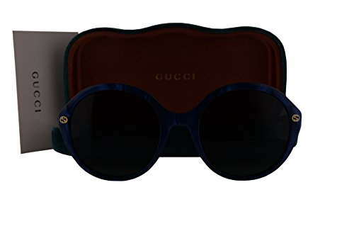 Gucci GG0023S Sunglasses Pearled Blue w/Gray Lens 004 GG - Email Gucci
