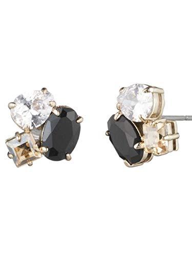 Carolee Women's Stone Cluster Earring, Gold/Black