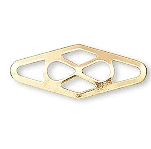 Ten 14Kt Gold Filled 11X4X0.25Mm Plaque Link Connectors