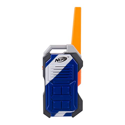 (Sakar WT2-01056-WAL Nerf Walk Talkies, 1000' Range, for Indoor and Outdoor Use, Includes Belt Clip, Transmission, Stylish Appearance, Power on and Off with a Flick of a Switch, (Pack of 2), Blue )