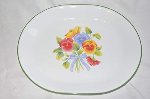 Corelle by Corning SUMMER BLUSH PANSY Floral 12.5