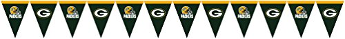 Creative Converting Officially Licensed NFL Plastic Flag Banner, 12', Green Bay Packers