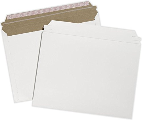 9 1/2 x 12 1/2 Cardboard Mailers - White Paperboard (250 Qty.) by Envelopes Store