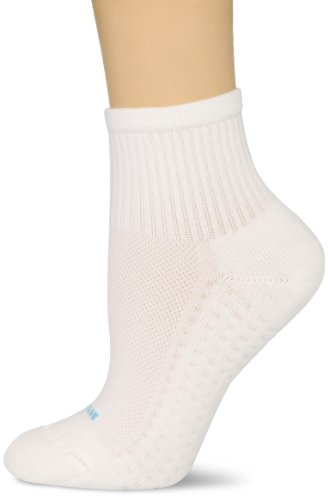HUE Women's Air Cushion Mini Crew Sport Socks, 3 Pair Pack,White