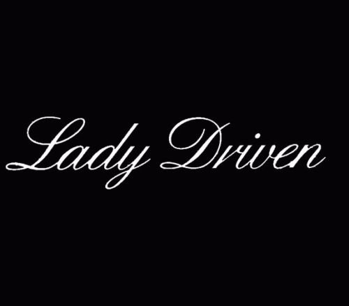Lady Driven Vinyl Decal Sticker Car Women Cute Girl JDM Fresh VW Driver Si White, Die cut vinyl decal for windows, cars, trucks, tool boxes, laptops, MacBook - virtually any hard, smooth surface