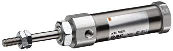 SMC NCJ2 Series Stainless Steel Air Cylinder, Round Body, Double Acting, Basic Style Mounting, Switch Ready, Cushioned