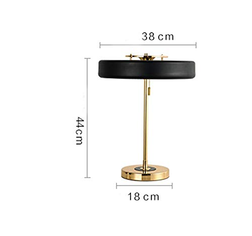 ChuanHan Table Lamp, American Style Classical Bedside Lamp Rangers Modern Retro British Rural 18 &Times; 44Cm Energy Saving and Environmental Protection Modern, ()