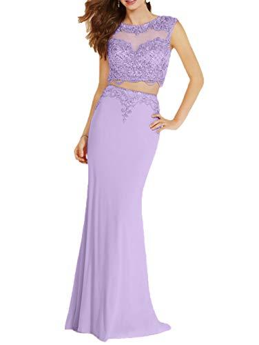 Festlichkleider Braut Abendkleider Figurbetont Wunderschoen La mia Lilac Neu Ballkleider mit Steine 2018 Meerjungfrau XznxORxS5