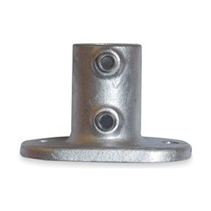 Industrial Grade 4NXW1 Railing Base Flange, Pipe Size 1 1/2 In -