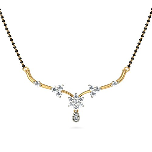 14K Or jaune 0,45CT TW White-diamond (IJ | SI) Mangalsutra