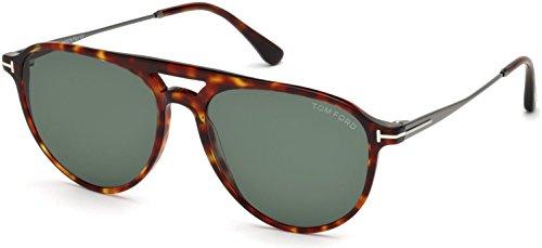 Ford Sonnenbrille Rot Havanna Tom FT0587 7Bqwnn0