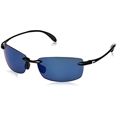 906451f18e Costa del Mar BA 11 OBMP 59.6 mm Unisex-Adult Ballast Polarized Iridium  Rimless Sunglasses