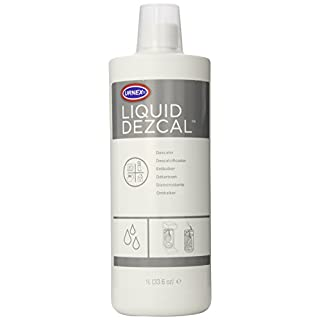 Urnex Liquid Dezcal Activated Descaler - 33.6 Ounce - For Use With Coffee Brewers Espresso Pod and Capsule Machines Kettles Garmet Steamers and Domestic Irons