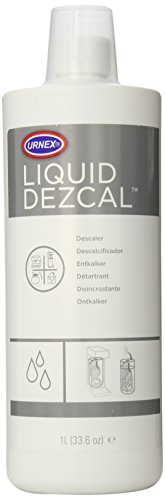 (Urnex Liquid Dezcal Activated Descaler - 33.6 Ounce - For Use With Coffee Brewers Espresso Pod and Capsule Machines Kettles Garmet Steamers and Domestic Irons)