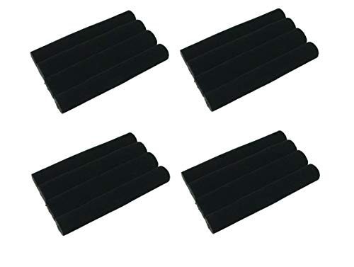 Ifavor123 Set of 4 Black Velvet Foam Tray Pads for Ring Jewelry Accessories Ring Holder Showcase Display