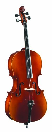 Becker 4000D Solid Top Cello Outfit 4/4, Red-Gold Gloss Finish