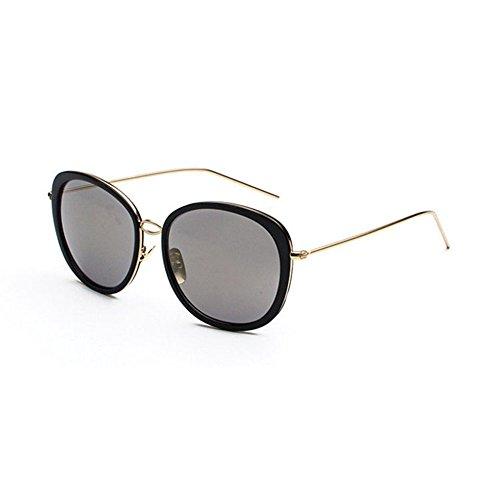 Aoligei Lunettes de soleil tendances de mode européenne et américaine de marée marque lunettes de soleil réfléchissantes hommes et femmes avec lunettes de soleil rétro awKr7dKsL